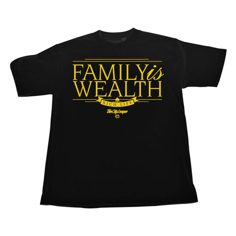 Gold Family is Wealth (Gold/Black Tee)