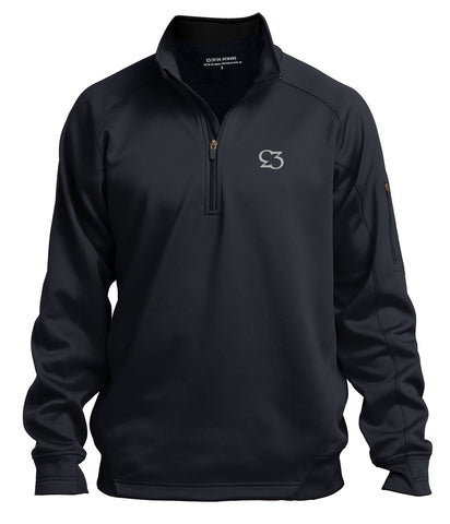 Risk.Reward® Mens Golf Pullover | Basic Black