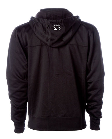 Risk.Reward® Mens Golf Hooded Zip | Basic Black