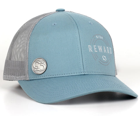 Risk.Reward® Golf Hat with Marker - BLUE SMOKESTER