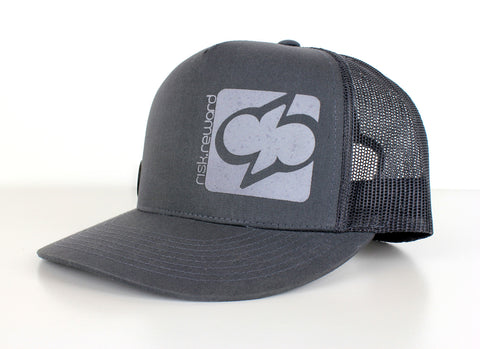 Risk.Reward® Golf Hat with Ball Marker - Block Dark Gray and Light Grey