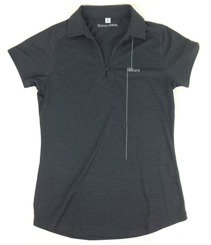 Risk.Reward® Ladies Golf Polo | Charcoal Pinstripe