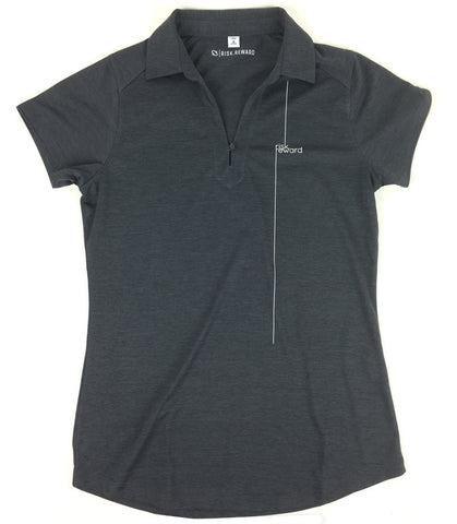 Risk.Reward® Ladies Golf Polo | Charcoal Pinstripe - RISK REWARD GOLF