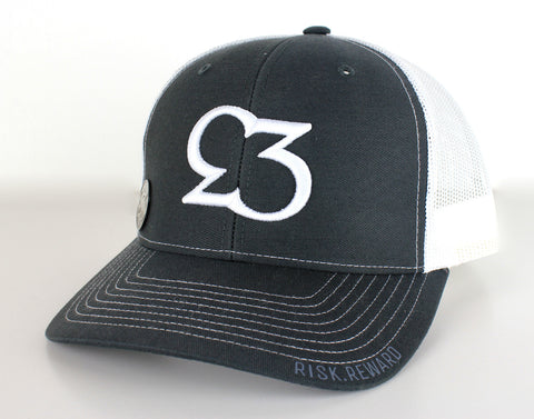 Risk.Reward® Golf Hat & Ball Marker - BOOM- Charcoal/White