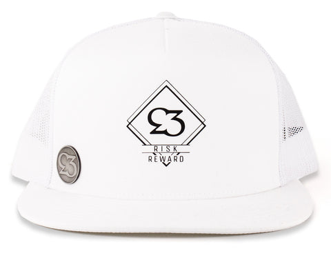 Risk.Reward® Golf Hat with Ball Marker - Double Diamond - RISK REWARD GOLF