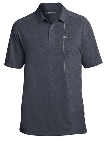 Risk.Reward® Mens Golf Polo | Charcoal Pinstripe