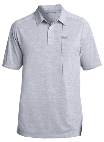 Risk.Reward® Golf Polo | Light Grey Pinstripe