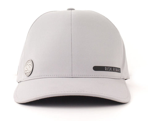 Risk.Reward® Golf Hat with Ball Marker - Smooth Gray and Black - RISK REWARD GOLF