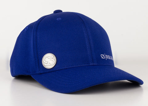Risk.Reward® Golf Hat with Ball Marker - Basic Royal and White