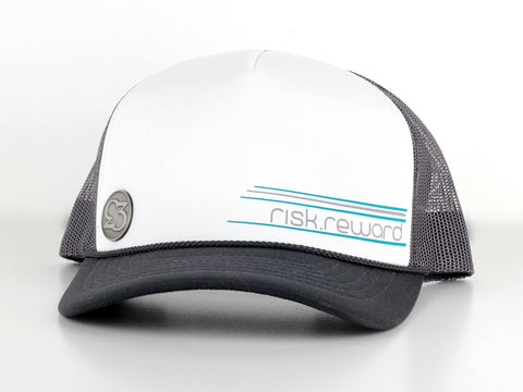 Risk.Reward® Golf Hat with Ball Marker - Foamie Turquoise and Gray