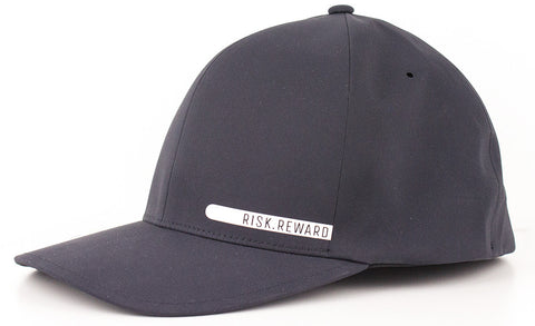 Risk.Reward® Golf Hat with Ball Marker - Smooth Black and White - RISK REWARD GOLF