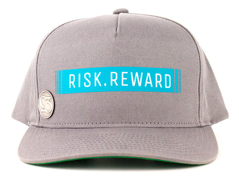 Risk.Reward® Golf Hat with Ball Marker - Barcode Teal - RISK REWARD GOLF