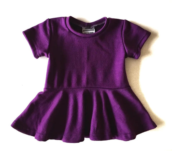 Merino Wool Interlock Peplum