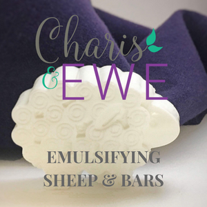 Charis 'N Ewe Lanolin Emulsifying Soap (Ebars) Unscented