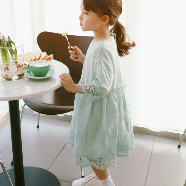 Susanna Lace Dress - Mint