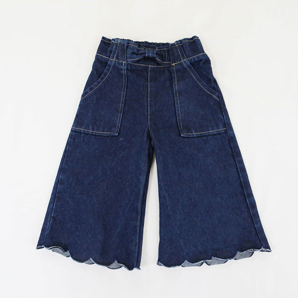 Alexis Denim Pants, little girls jeans in dark blue