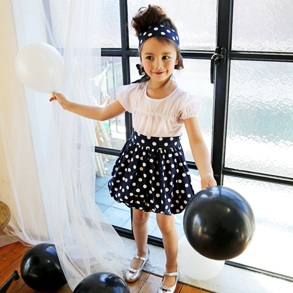 Audrey Polka Dot Balloon Dress [2-3 YEARS]