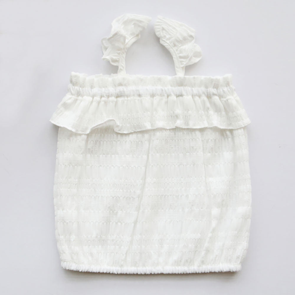 Melinda Sleeveless Top [IVORY / 4-5 YRS]