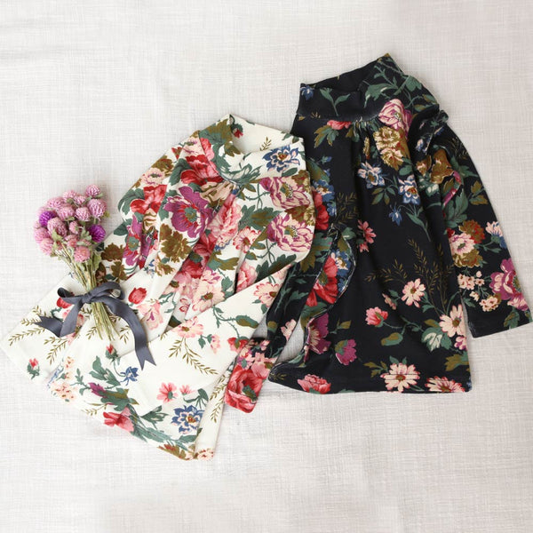 Semy Floral Turtleneck Top for little girls