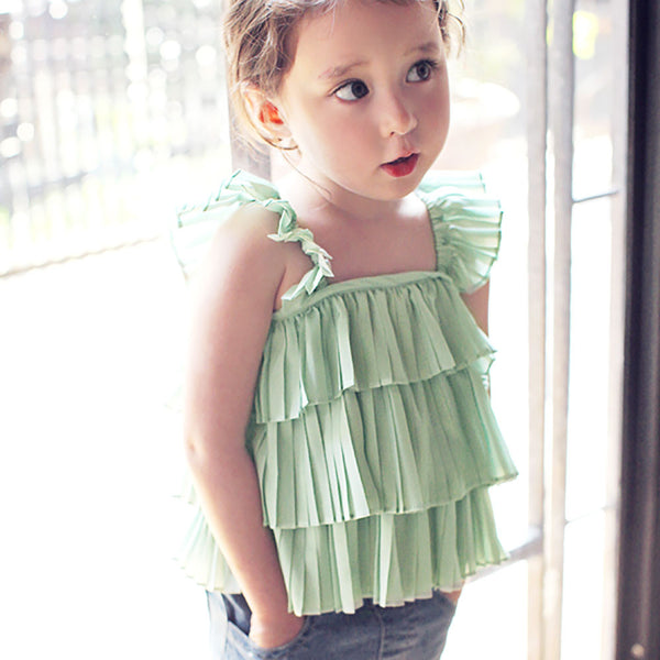 Georgia Pleated Top