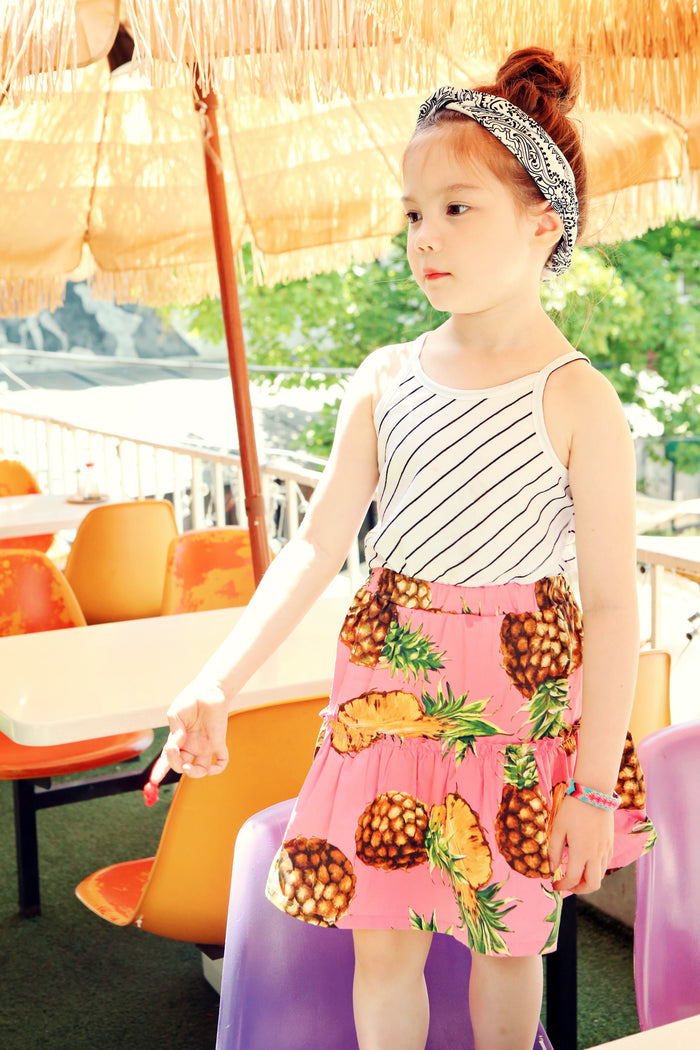 [Peach & Cream] Florence Pineapple Skirt - PINK