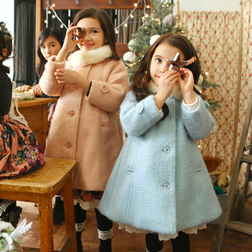 Fairy Wool Coat, little girls winter coat