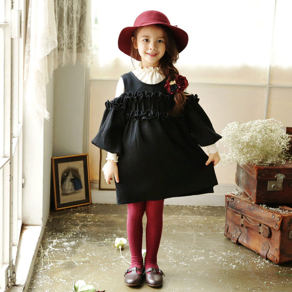 Micah Ruffle Cold Shoulder Dress for little girls