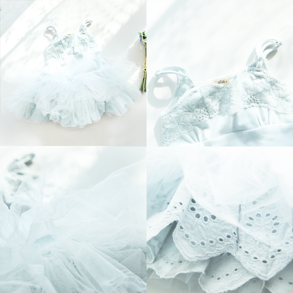 Callie Tulle Dress [WHITE / 6-7 YRS]