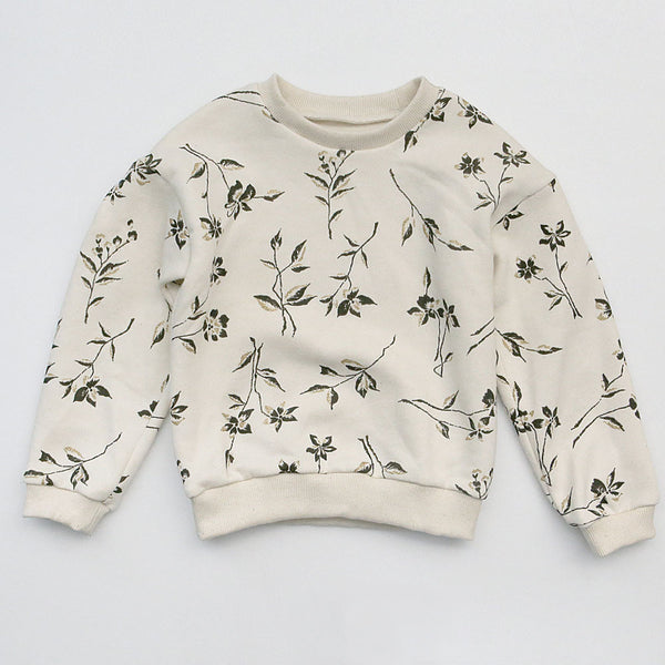 Ramona Floral Fleece-lined Sweater for little girls
