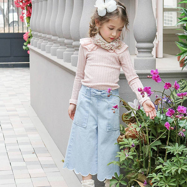 Alexis Denim Pants, little girls jeans in light blue