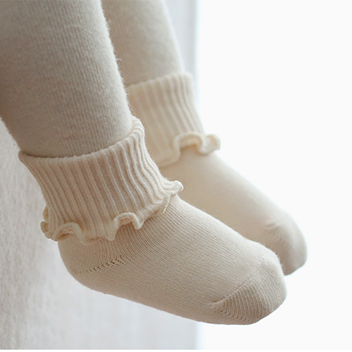 Cate Socks Set - Cream, Grey, Pink