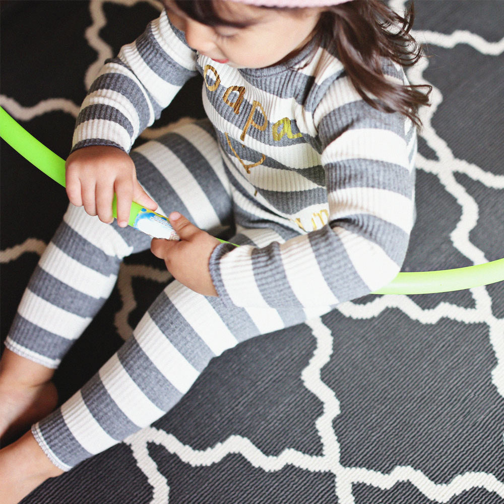 Papa Stripe Pajama Set for toddlers