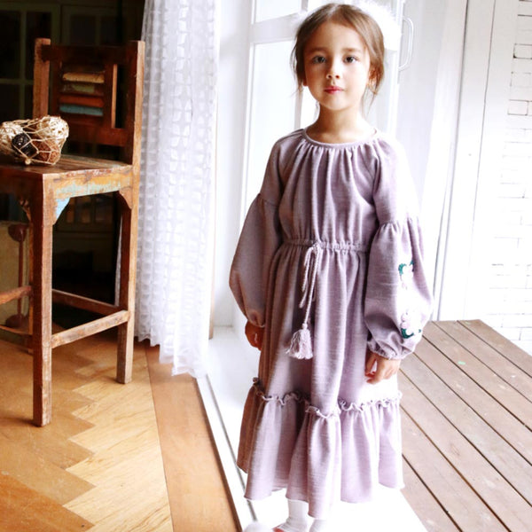 Rory Flower Maxi Dress for little girls