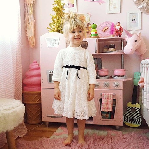Andrea Velvet Ribbon Lace Dress[2-3 YRS]