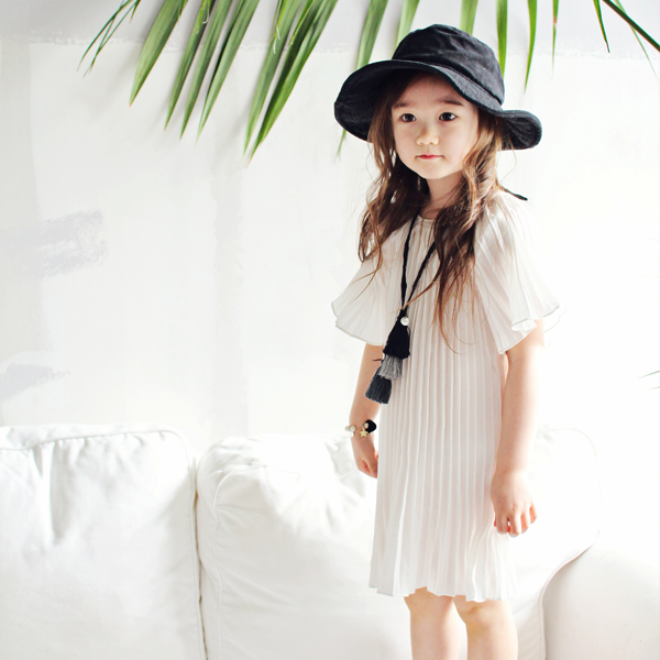 Piper Pleated Dress[WHITE]