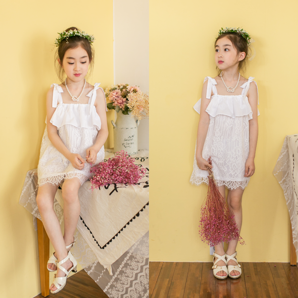 Kathy Lace Dress [WHITE / 6-7 YRS]