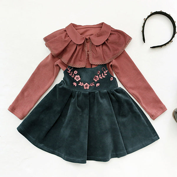 Gloria Suspender Skirt for little girls