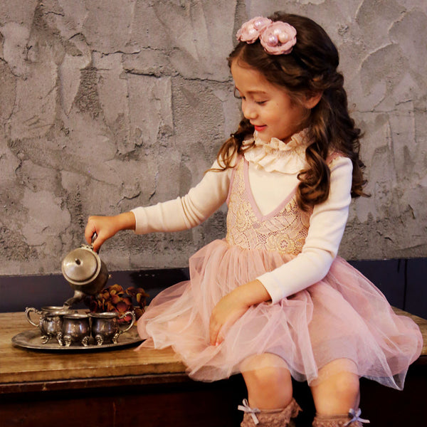 Scarlet Tulle dress for little girls in pink