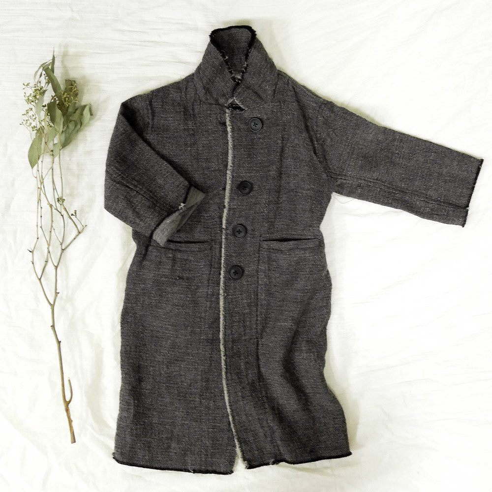 Vienna Autumn Coat for little girls, fall coat in black
