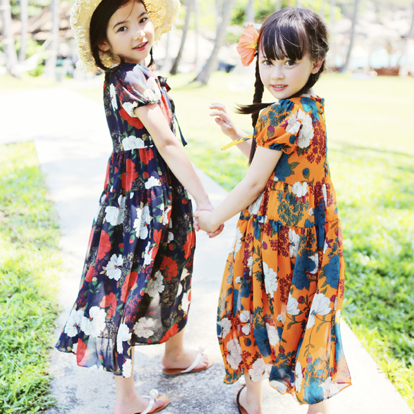 Vanessa Floral Chiffon Dress [3-4 YEARS]