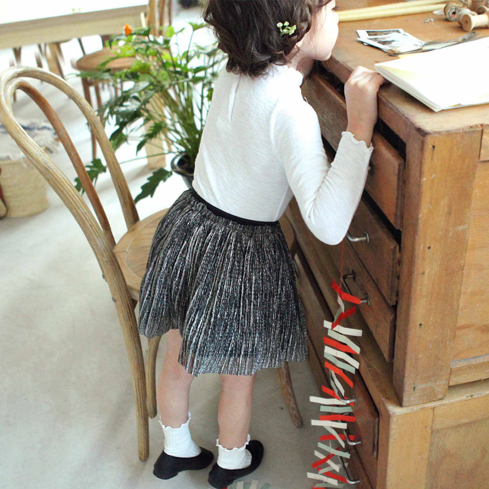 Fern Pleated Skirt, little girls pleated skirt in black