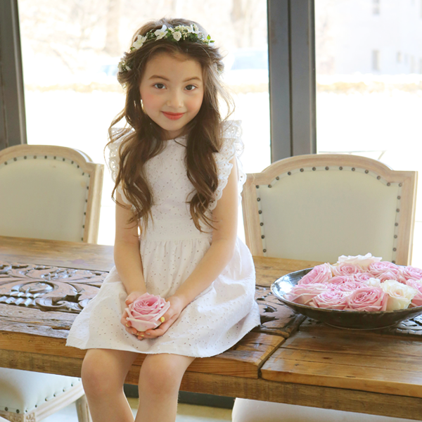 Aimee Eyelet Ruffle Dress [5-6 YEARS]