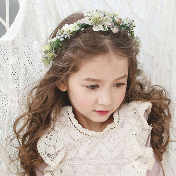 Phoenix Flower Headband, little girls bohemian vintage hairband