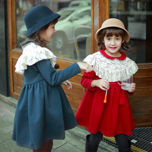 Rosebell Lace Dress, little girls long sleeve dress