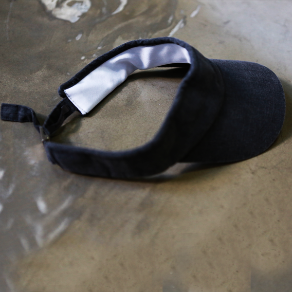 Joy Linen Visor [BLACK]