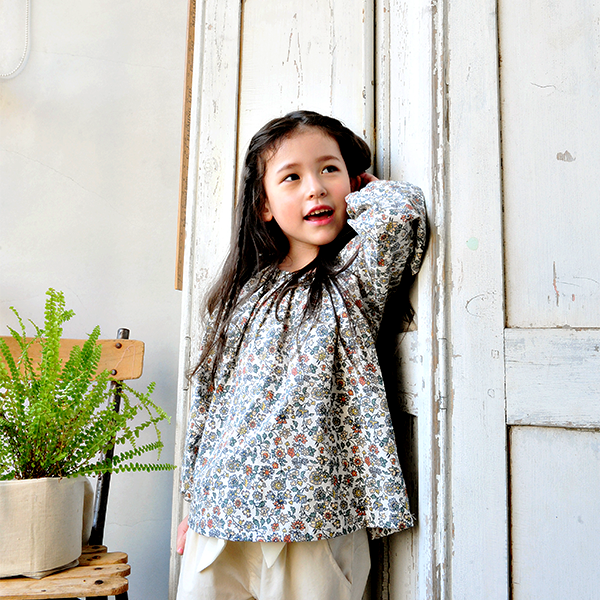 Helena Floral Puff Blouse [6-7 YEARS]