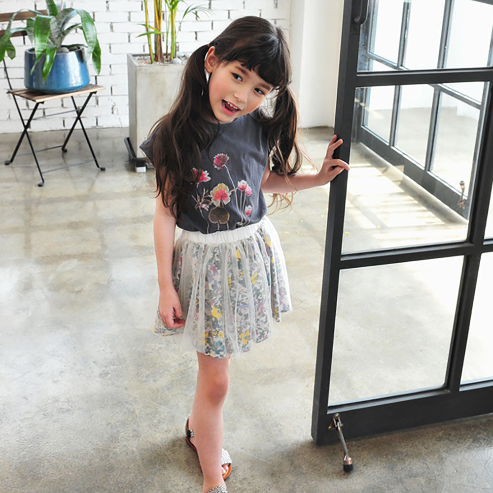 Brielle Floral Tulle Skirt [2-3 YRS, 3-4 YRS]