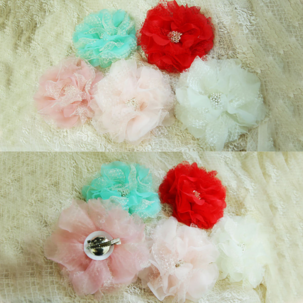 Camila Brooch Hair Clip [MINT, RED]