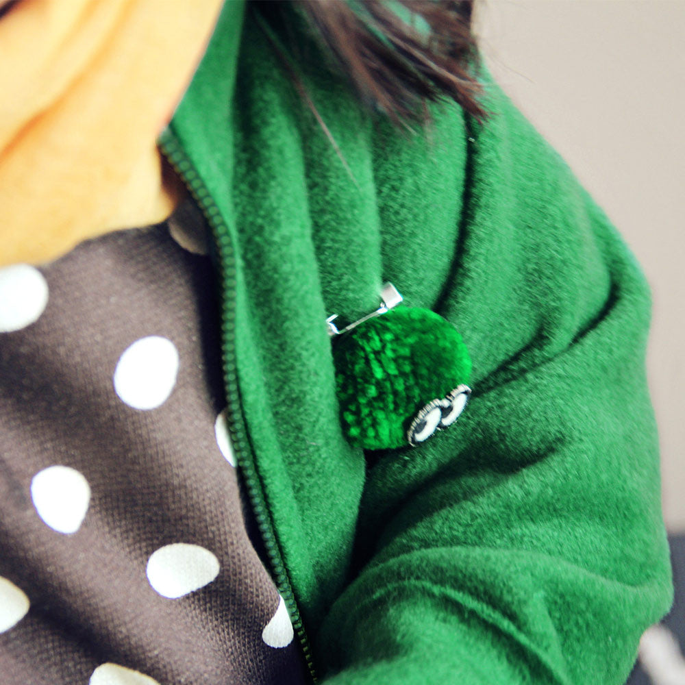 Santos Fleece Jacket for little girls in green