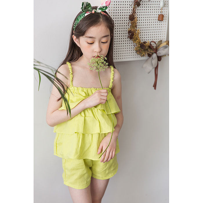 [BERRY BERRY] Norris Ruffle Top & Bottom - LIGHT GREEN